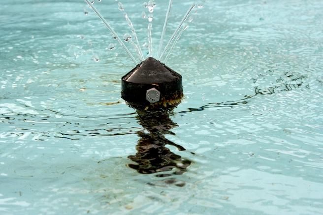En av vattenspridarna i närbild.
