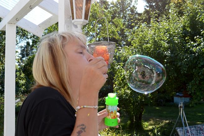 Ibland fick jag till dem - de stora och sega bubblorna.