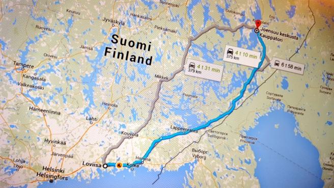 Att åka till Joensuu är ju inte den längsta resan vi supporters gör. Vi ska till Vasa, Björneborg, Jakbostad och trakterna kring Uleåborg också - kanske :-)