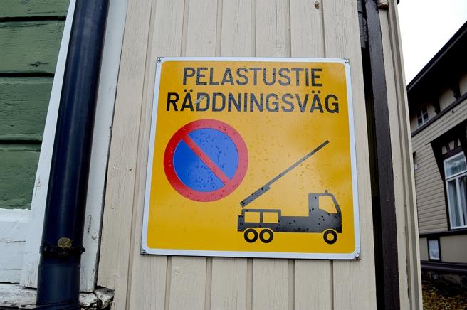 Viktigt att inte parkera här.