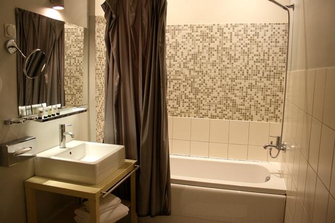 Badrummet på hotellet i Tallinn.