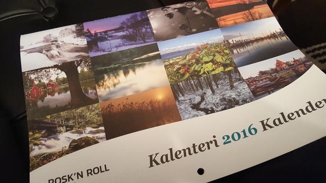 En trevlig kalender kom med posten i går.