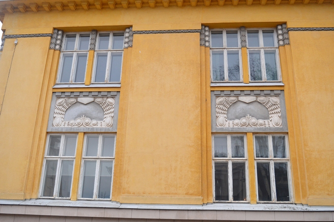Fönster på Berggatan i Borgå.