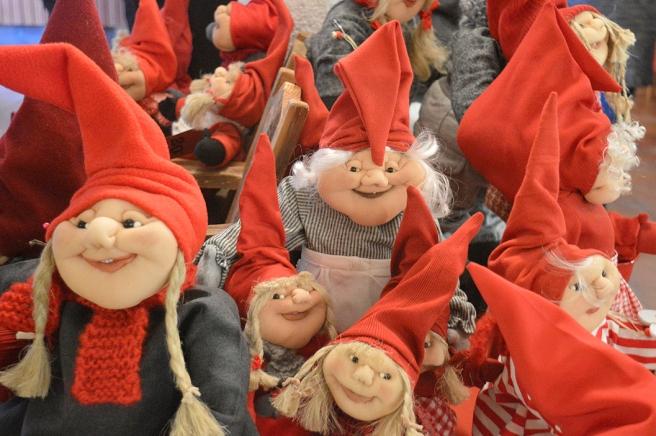 Tomtar som jag förevigade på Malmgårds marknad den 12 december.