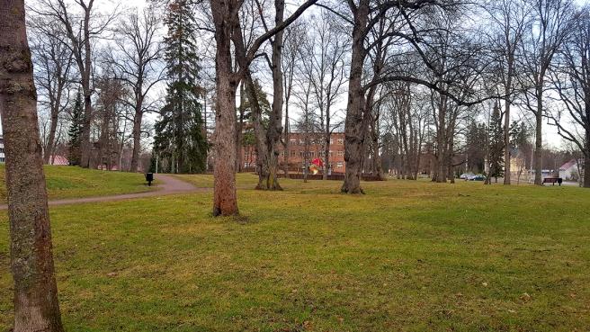 Utsikten söderut. I bakgrunden Generalshagens skola.