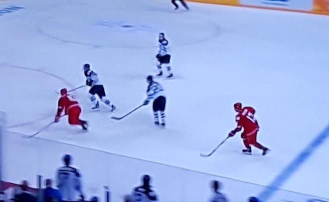 Heja heja! Efter en trög start lossnade det bra för hockeylejonen som besegrade Vitryssland med 6-0.
