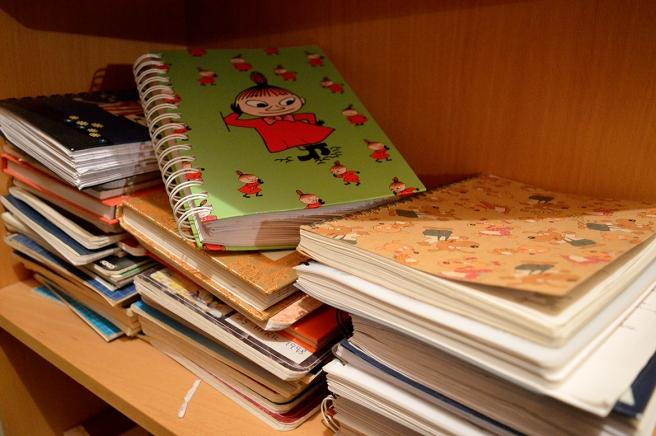 En tiondedel av alla dagböcker.