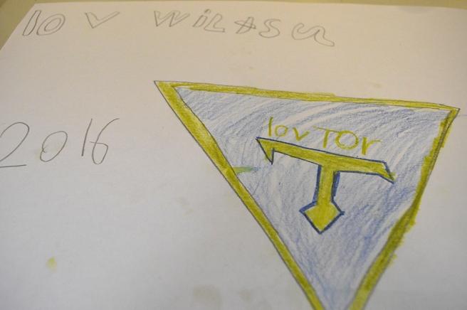 Köpte den här bedårande teckningen av en annan supporter, en tjej på 10 år.