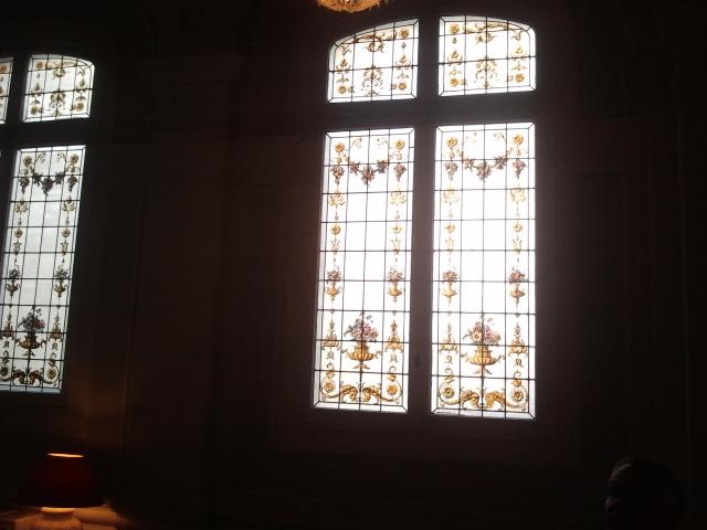 Fönster i hotellet Westminster i Nice.