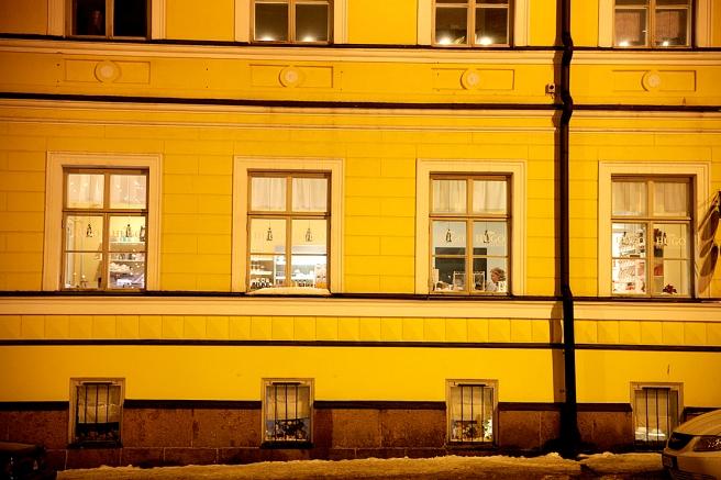 En av fasaderna vid Lovisa torg, Brandensteinsgatan.