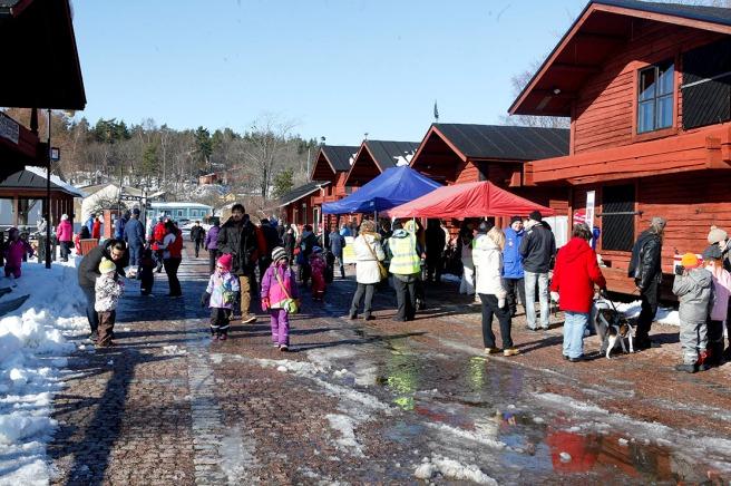 Populärt evenemang, Vårskare, på Skeppsbron.