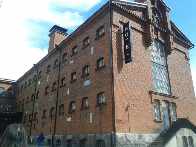 En del av det gamla fängelset på Skatudden i Helsingfors.