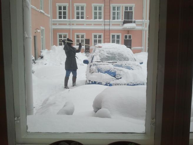 Så här såg det ut utanför redaktionen på gamla stället vid Alexandersgatan där Östra Nyland fanns 2012.