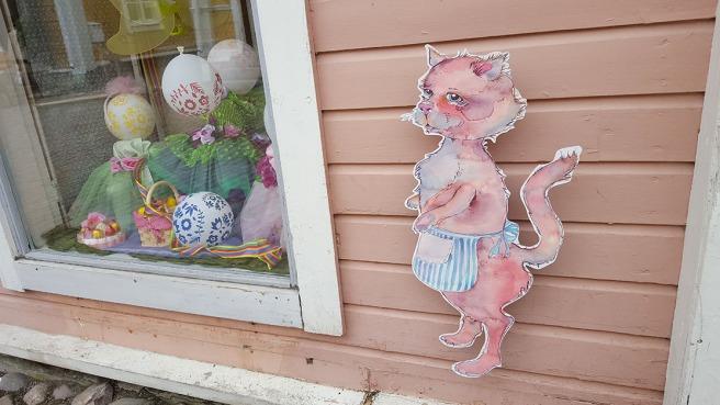 En affär i gamla stan i Borgå.