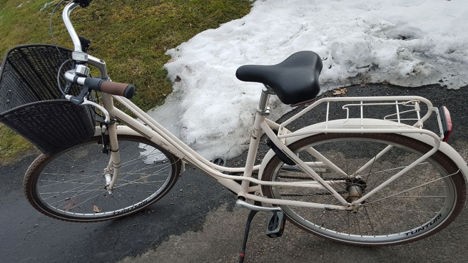 Cykeln som jag köpte på våren för två år sedan.