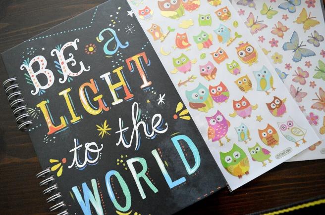 Det enda jag shoppade själv var klistermärken och ett dagbokshäfte. Ny dagbok behövs inför semestern som ska föra mig ut på diverse äventyr :-)