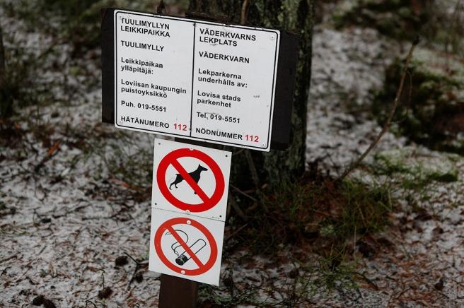 Inga cigarettfimpar,inget hundbajs på lekplatsen,t ack!