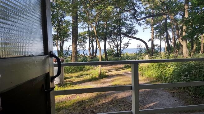 Utsikten från toaletten på Fagerö.