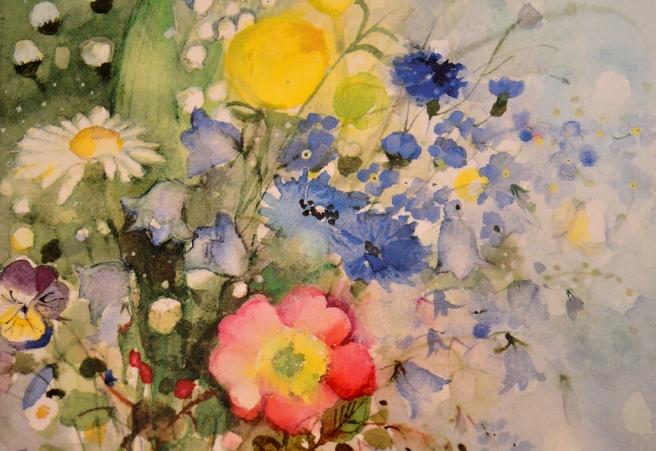 Naturblommor heter juni månads bild på kalendern av Minna L. Immonen.