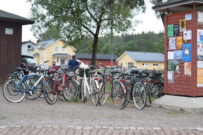 Många valde att ta cykeln den här kvällen.