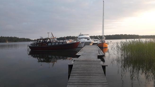 Övernattning vid Lillfjärden.