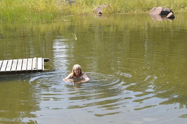 Första doppet i havet blev så sent som den 20 juli. Tror att det inte var mer än femton grader men oj så skönt det var :-)