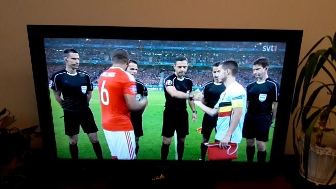 Wales möter Belgien i EM-slutspelet.