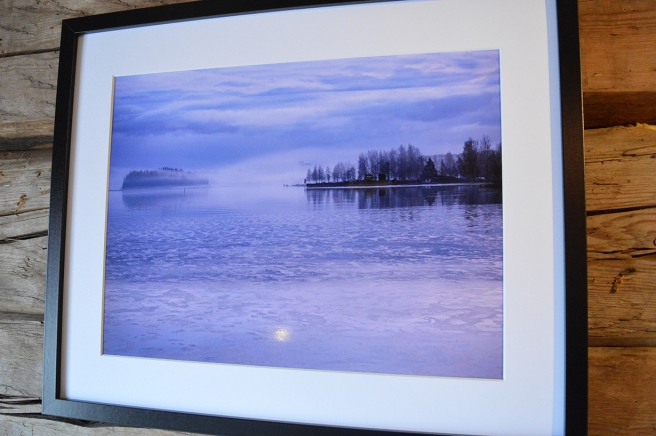 Ett foto från en vintrig badstrand, Plagen.