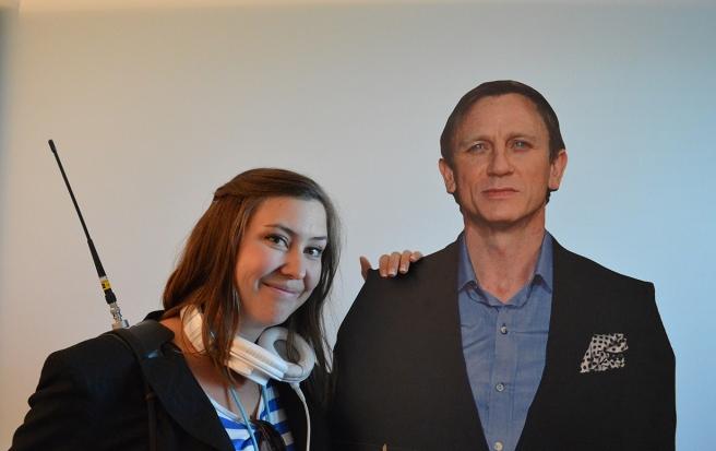 Charlotte Vainio fick en stund med James Bond innan hon fortsatte jobba.