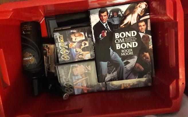 Bara kartong-Bond fattas i lådan.