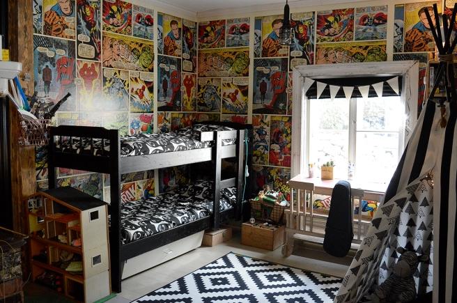 Många barn beundrade det här rummet i Vackerbacka.