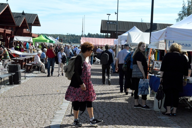 Marknaden på Skeppsbron.