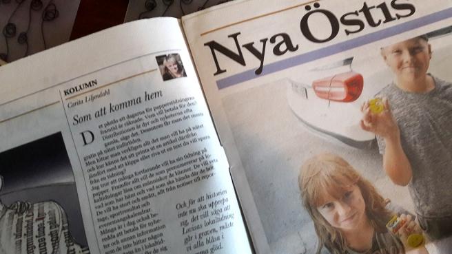Efter att ha jobbat ett och ett halvt år på en regiontidning tycker jag det känns som att komma hem då jag åter får skriva för en lokaltidning.