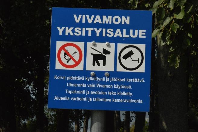 Många förbud här!