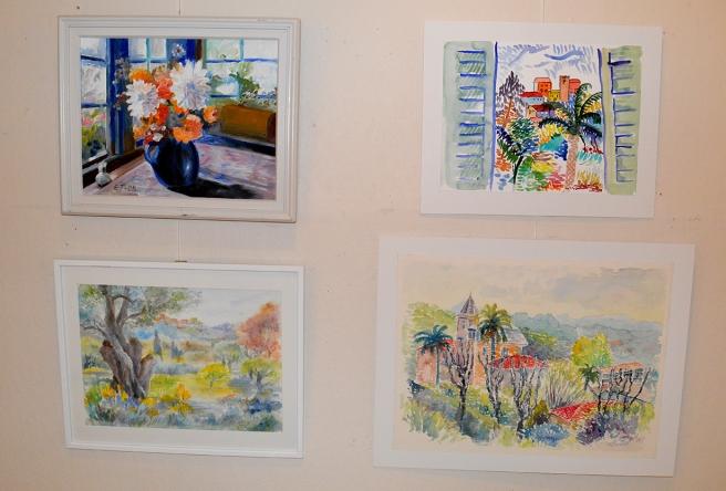 Konstverk på Galleri Theodor.