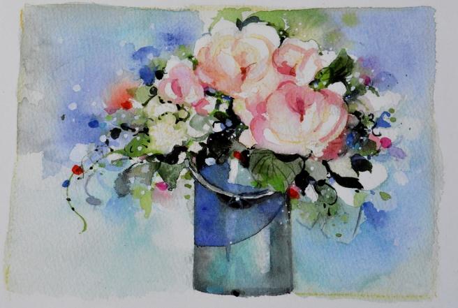 I naturen finns ännu en del blomster men de flesta har vissnat bort. Från affären kan man alltid köpa buketter.