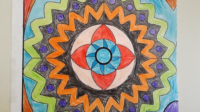 Konst och färger gör mig ofta glad.