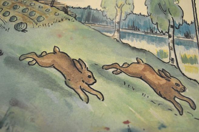 En teckning från en gammal barnbok.
