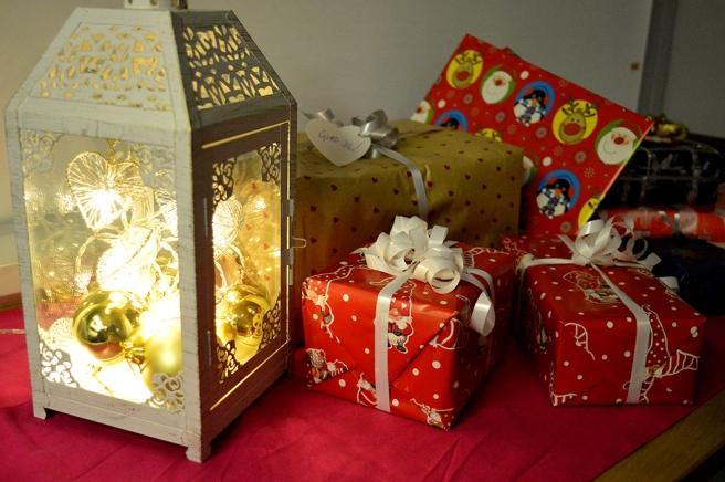 En del av de julpaket vi delade ut på tidningen Nya Östis julfest i början av december.
