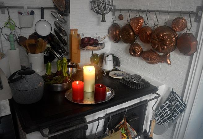 Mysigt i köket i Villa Armas.