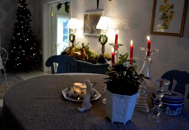 En hörna i vardagsrummet i Kungsdammen.