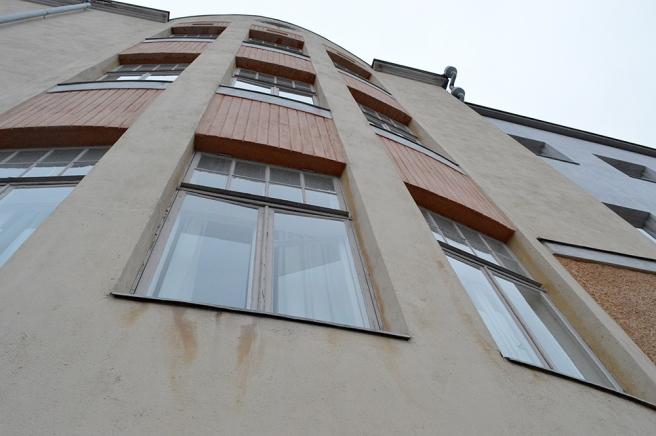Perspektvbild av fasaden mot öst.