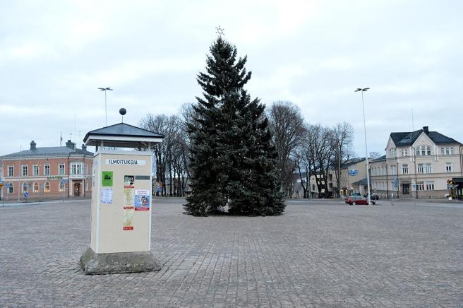 Folktomt, söndagen den 1 januari, då bilden togs.