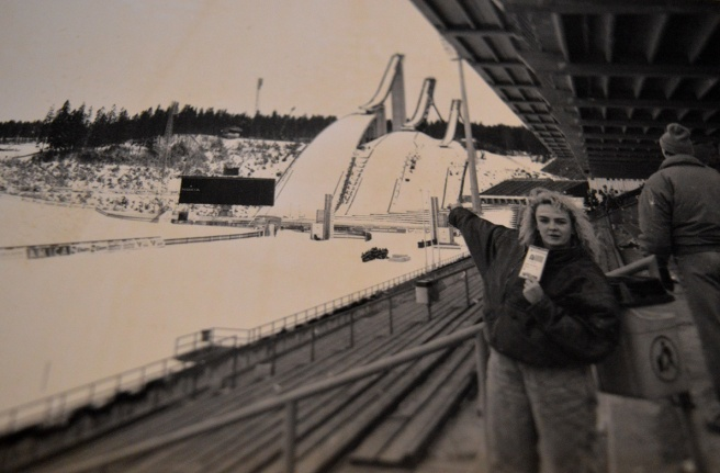 Reporter Carita från tidningen Östra Nyland på plats i Lahtis 1989.