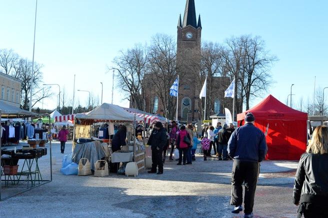 Februarimarknad i Lovisa.