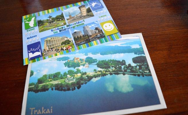 Fick två vykort i går. Ett från Litauen, ett från Tyskland.