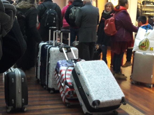 Lite nyfiken var man nog allt på vad de här väskorna innehöll :-)