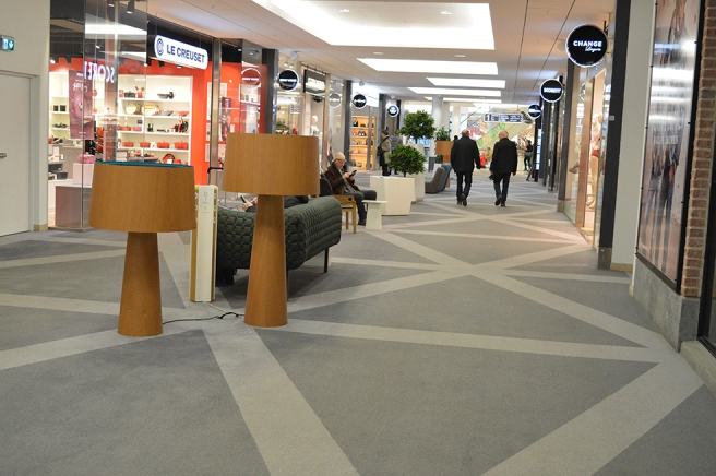I Täby centrum var det måndagslugnt.