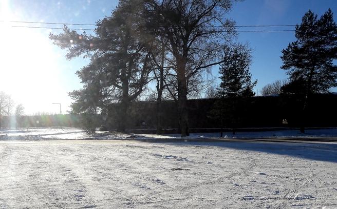 Bastion Ungern i vintersolen.