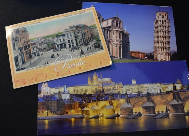 Från Bulgarien, Tyskland och Tjeckien kommer de här korten.